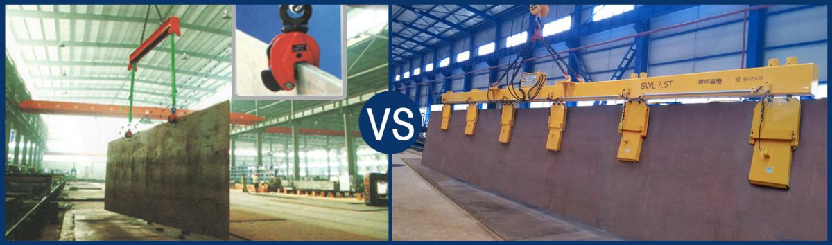 Tilt Lifting of Steel Plate - Vertical Plate Clamps VS Lifting Magnets | HVR MAG