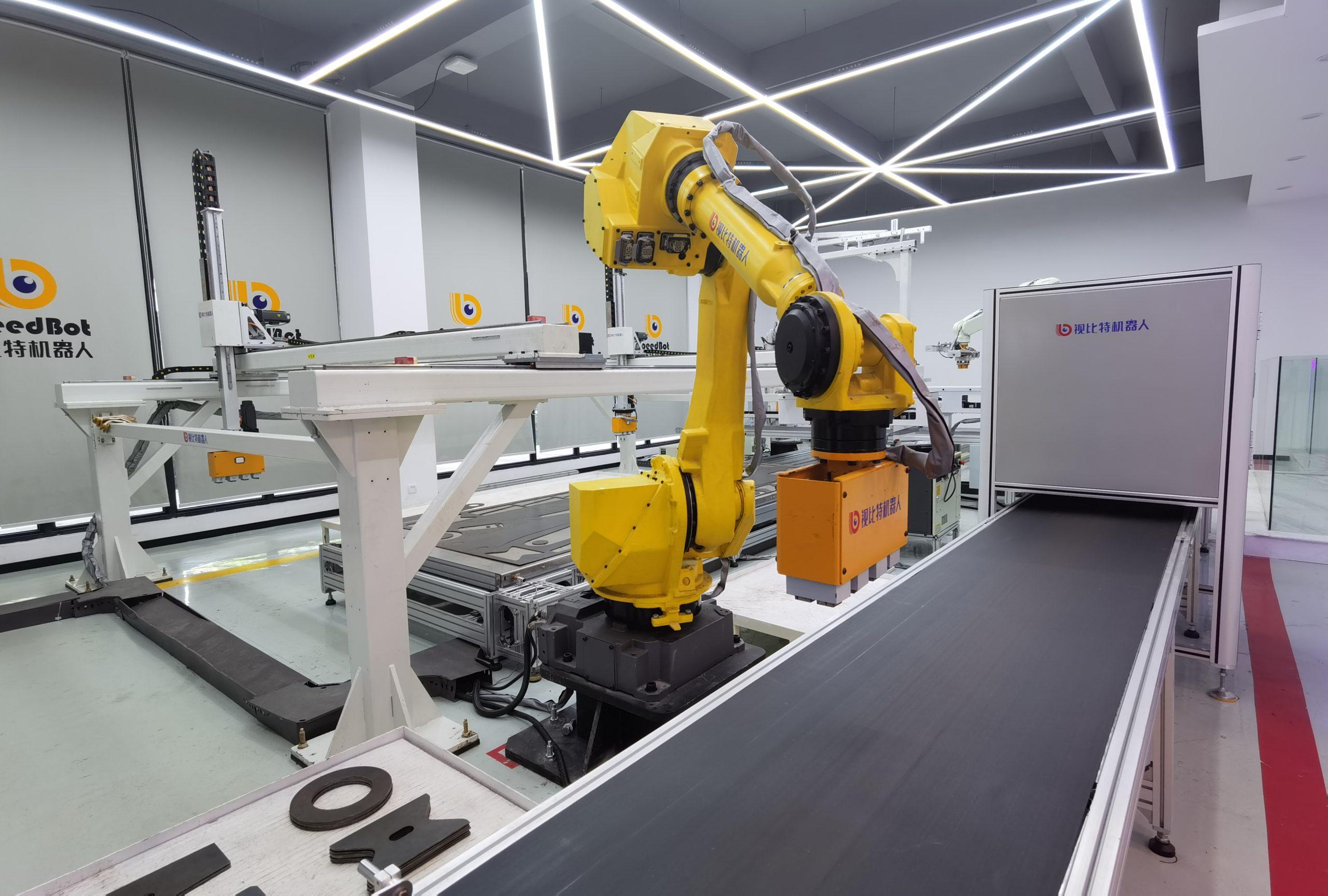 Speedbot robot magnetic gripper in sorting line - HVR MAG