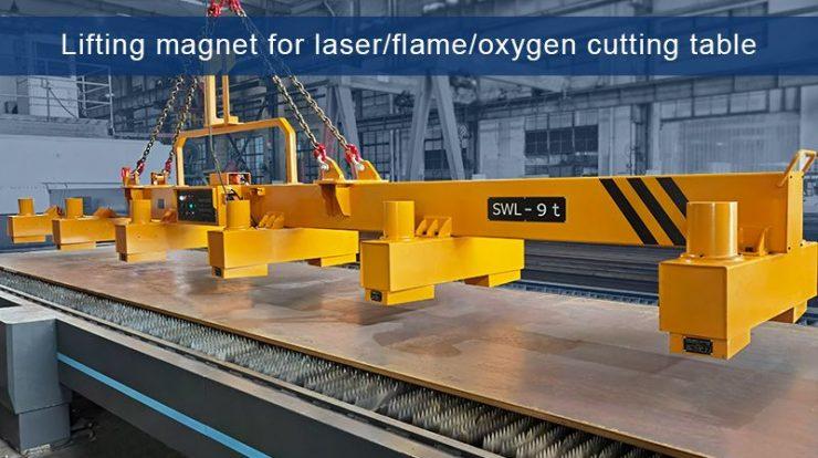 9 Ton Steel Lifting Magnets for Laser/Plasma/Flame/Oxygen Cutting System - HVR MAG