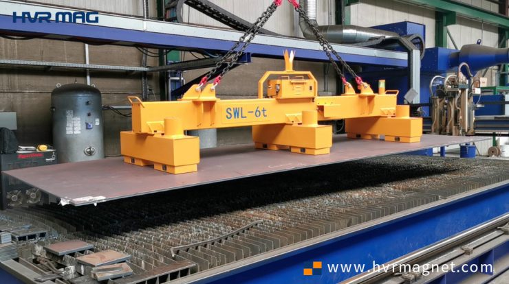 Battery Powered Lifting Magnets System 6 Ton - HVR MAG