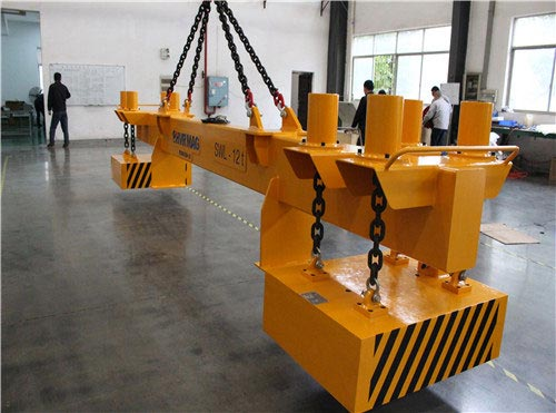 single heavy rail lifting magnet