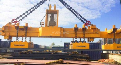 HVR MAG Electro Permanent Lifting Magnet on Railway Project