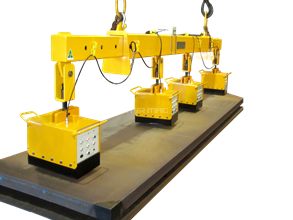 Joint battery electro permanent lifting magnet