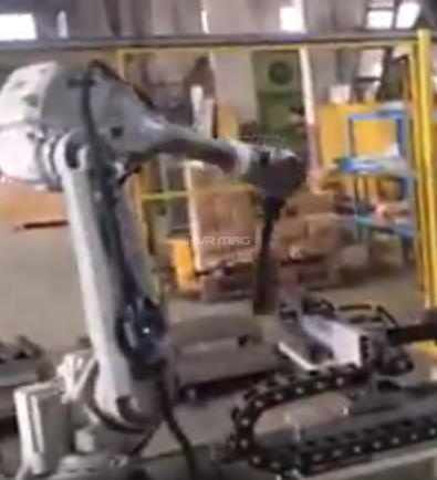 Robot electro permanent magnet carry Angle iron whole process Share