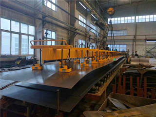 Thin Plate Lifting by Using Electro Permanent Lifting Magnets