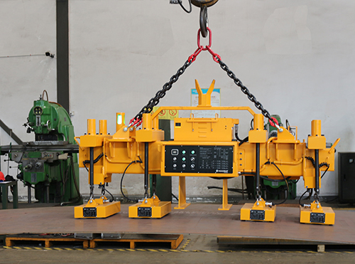 Thin steel plate lifting magnet