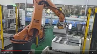 Magnetic Gripper on Robotic Arm for Transfer Application