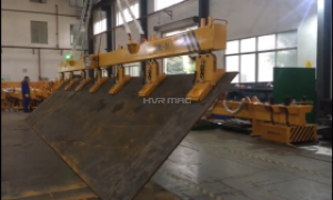 Vertical Lifting of Steel Plate with Electro-Permanent Magnets