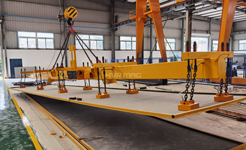 Magnetic Plate Lifter for 12m Long Heavy Plate in Shanghai