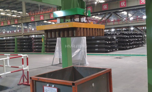 Packing Steel Tube Parts with Magnetic Gripper on Gantry System