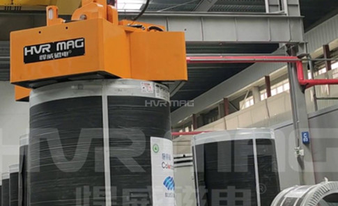 Vertical Eye Steel Coil Lifting Application in Tianjin