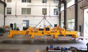 Lifting Long Steel Plate with Telescopic Beam Lifting Magnets - HVR MAG