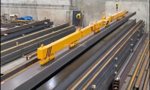 Structural Steel Material Handling with Electro Permanent Magnet Beam  | HVR MAG