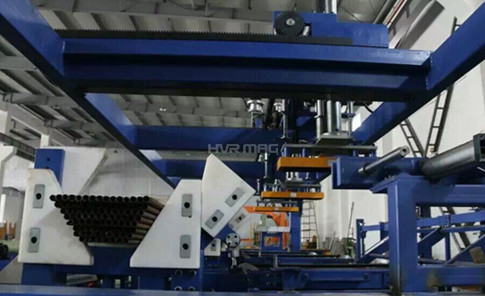 Palletizing Round Steel Tubes with Magnetic Gripper on Gantry System