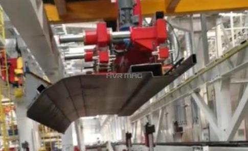 EOAT - Magnetic Gripper on Gantry Robot Handling Irregular Carriage Board