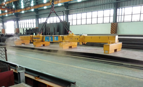 10 Ton Industrial Lifting Magnets with Telescopic Spreader Beam