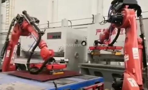 Electromagnetic Robot Gripper Loading & Unloading for Metal Shearing Process