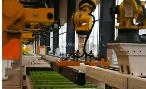 Magnetic End Effector on Pick and Place Robot Handling Steel Tubes
