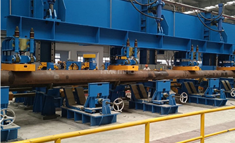 Electro Permanent Magnet Gripper Lifting Steel Pipes on Gantry Robot System
