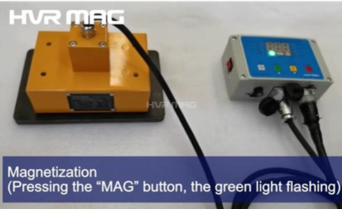 Electro Permanent Lifting Magnet Test - Magnetic Property Demonstration