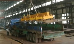 Unloading Steel Sheet from Truck with Lifting Magnets System
