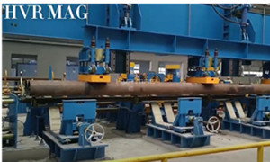 Magnet Grippers Lifting Steel Pipes on Gantry Robot System