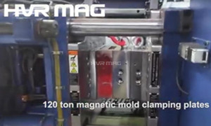 120 Ton Magnetic Mold Clamping Plates on ENGEL Injection Molding Machine