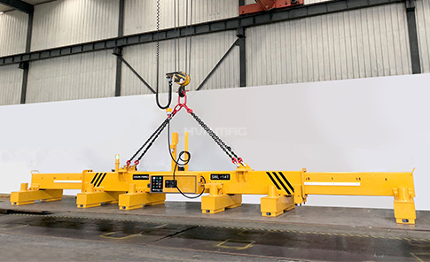 New Shipment of 14 Ton Lifting Magnet with Telescopic Beam