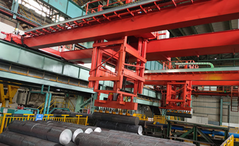 Magnetic Lifting of Steel Round Billets on Smart Crane