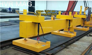 Lifting 8 Sheets of Steel with Magnetic Lifting System