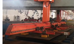 Loading Steel Sheet onto Cutting Table with Lift Magnets on Gantry Robot System