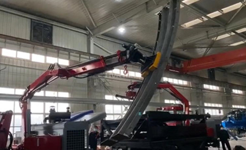 Magnet Lifters on Articulating Boom Lift
