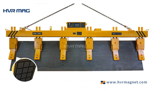 Process View of HVR MAG's 6 Ton Vertical Plate Lift Magnets - to Be Shipped to US