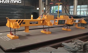 Magnetic Lifting Device Handling Thick Steel Plate, See How It Work?