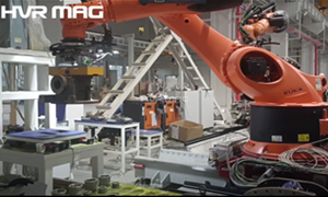 Transferring 200-300kg Irregular Steel Workpieces with Robot Magnetic Gripper