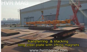 Steel Plate Lifting Magnets Unloading & Stacking 13-50mm Plate