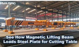 See How Magnetic Lifting Beam Loads Steel Plate for Cutting Table