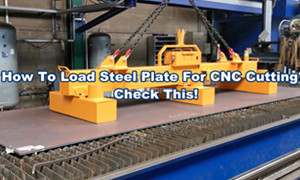 6 Ton Battery Lift Magnets Loading Steel Plate for CNC Cutting