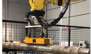 Magnetic Robot Gripper Handling Round Bar